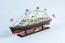 "Royal Yacht Britannia Wooden Ship Model 29"""