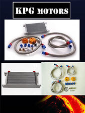 KPG UNIVERSAL OIL COOLER RELOCATOR + BRAIDED LINE + FITTING KIT COMMODORE HOLDEN