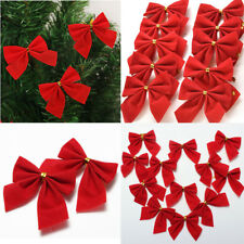 Bows Christmas Tree Decorations Xmas Bowknot Party Garden Festival Ornaments X12