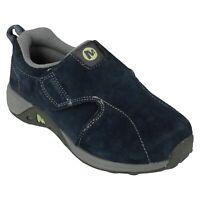 Boys Merrell Leather Hook & Loop Fastening Shoes - Jungle - UK 10 - ExDisplay