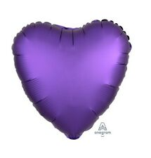 Party Supplies Birthday Engagement Satin Luxe 45cm Foil Balloon Purple  Heart