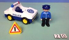 (20) playmobil 1.2.3. voiture police ref 6737