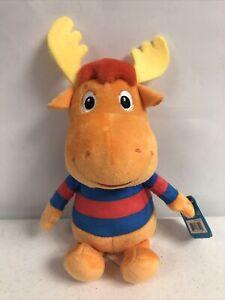 "NWT Nickelodeon Backyardigans Tyrone 8"" Plush Orange Moose"
