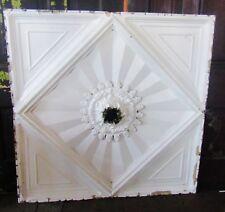 "Victorian Tin Ceiling Center Piece For Light Fixture 48"" Sq"