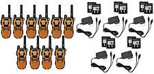 10 Motorola MT350R FRS GMRS 2WAY Radio Walkie Talkie Ni-MH Weather VOX Vibracall