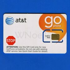 New At&T Full Size Sim Card Sku 72287 for PrePaid (GoPhone) Plans