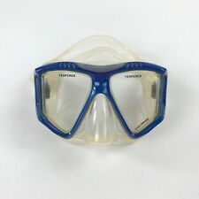 US Divers Diving Mask Scuba Snorkel Swim Half Face Tempered Lens Blue