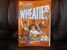 1999 Wheaties 75 Years of Champions Calendar plus Wheaties VOTE Poster