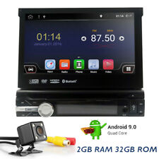 """7"""" HD Android 9.0 Quad-Core Single 1Din Car Stereo DVD Player DAB OBD2 1080P 32G"""