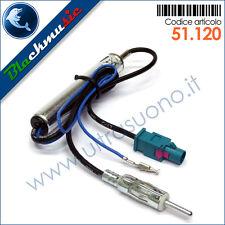 Adattatore antenna autoradio FAKRA-DIN per Mercedes Classe C W203 res. 2003-2007
