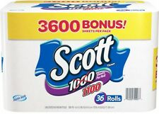 Scott Bath Tissue, 36 Bonus Pack 1,100 Sheets Per Roll