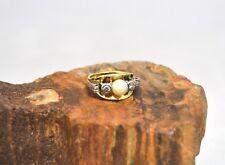 Gold Ring mit einer Perle und Diamanten, ca. 0.32ct, ca. 7.3g