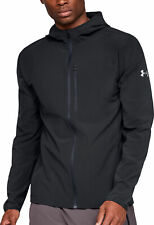 Under Armour Outrun The Storm Mens Running Jacket Black Super Rain Resistant Run