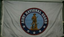 Lot of 5 Army National Guard United States Us Military Nylon Flags 3' X 5'