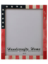 USA American Flag Picture Photo Frame Souvenirs Handmade Frames Size - 8x10