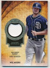 2017 Topps Tier One WIL MYERS Game-Used Jersey Relic #170/331