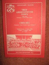 ABERYSTWYTH v CHELSEA 84-85 FRIENDLY