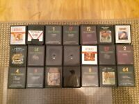 Atari Games LOT of 21 - Baseball, Swordquest, Planet Patrol All tested and work.
