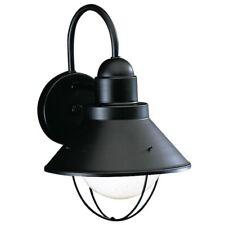 """NEW KICHLER BLACK Gooseneck BARN WALL LIGHT FIXTURE Aluminum Indoor/Outdoor 12"""""""