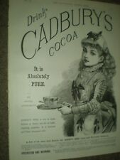 Cadbury's Cocoa girl maid art advert 1889 ref AR