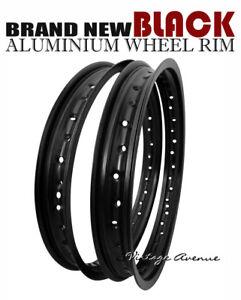 HONDA C100 CA100 C102 C105T CA105 CA105T ALUMINIUM (BLACK) FRONT+REAR WHEEL RIM