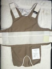 CARRIER for Kevlar Armor- Khaki XL/W- Body Guard Brand + Bullet Proof Vest +NEW