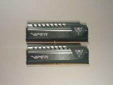 Patriot Viper 8GB (2 x 4GB) DDR4 2666MHz C16 PC4-21300 288-Pin Desktop Memory