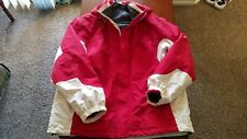 Mens Lands' End Hooded Winter Jacket Coat Red 2 Layer Removable Fleece Lining XL