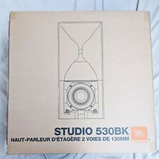 "JBL Studio 530 5-1/4"" Bookshelf Speakers, 1 Pair - Studio 530BK - Brand New"