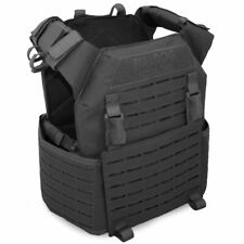 More details for bulldog kinetic military army tactical police molle armour plate carrier black