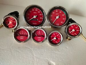 Smiths Kit 52mm Oil Temp Oil Bar Fuel Volt Gauge Kph 85 mm Speedo Tacho Replica