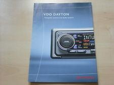 54437) Toyota VDO Dayton Navi Autoradio Prospekt 04/2000