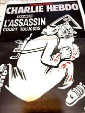 CHARLIE HEBDO  SPÉCIAL ATTENTAT 1 AN APRES n° 1224*L'ASSASSIN COURT TOUJOURS2016