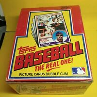 1983 Topps Box With 36 Miss-Wrapped Packs of 1983 Topps Baseball