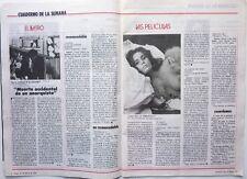"Mag ESPAGNOL 1978: Film ""HISTOIRE D'O"" CORINNE CLERY_UMBERTO ECO"