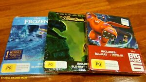 DISNEY Steelbook's  Jungle Book , Frozen , Big hero 6 ( NEW ) REGION B