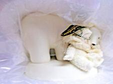 "Dept 56 #56-69417 Snowbabies ""Snuggle Up"" Polar Bear Friendship 2004 Ni 00004000 B c"