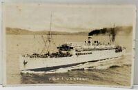 USAT U.S. GRANT Army Transport Ship RPPC  Postcard F9