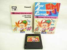 MSX FM PANA AMUSEMENT CARTRIDGE S-RAM Item ref/2450 Import Japan Video Game msx