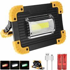 Led Work Light Cob Flood Lights Flashlight Usb Rechargeable Lamp Power Bank-Us