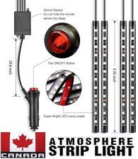 NEW 4pcs Multi Color Car Interior LED Atmosphere Light Ambient Lighting DC 12V