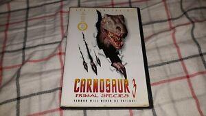 Carnosaur 3: Primal Species (DVD) Roger Corman! Dinosaurs! Oop! Rare!