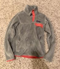 PATAGONIA Womens T Snap Synchilla Pullover Gray Fleece Size Small