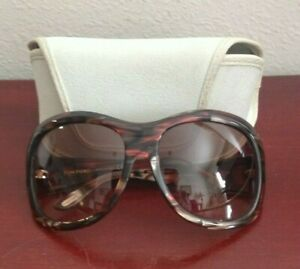 TOM FORD STEPHANIE TF62 T61 62O16  BROWN TORTOISE SUNGLASSES.  ITALY. W/CASE