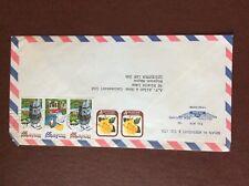 b1u ephemera stamped franked envelope New zealand 5 stamps 20c airmail