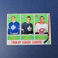FORBES KENNEDY JIM DOREY JOHN FERGUSON  Maple Leafs Canadiens CUSTOM 1969-70 LDR