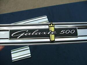 1964 Galaxie 500 rear finish panel mouldings, restored! trim