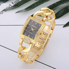 Luxury Womens Crystal Stainless Steel Watch Ladies Quartz Bracelet Wrist Watches
