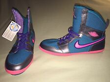 NEW 7Y JORDAN AJ RETRO 1 SKINNY HIGH GIRLS PINK PURPLE TEAL KIDS YOUTH