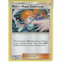 63/68 Misty's Water Command   Rare Holo   Pokemon Trading Card Game Hidden Fates
